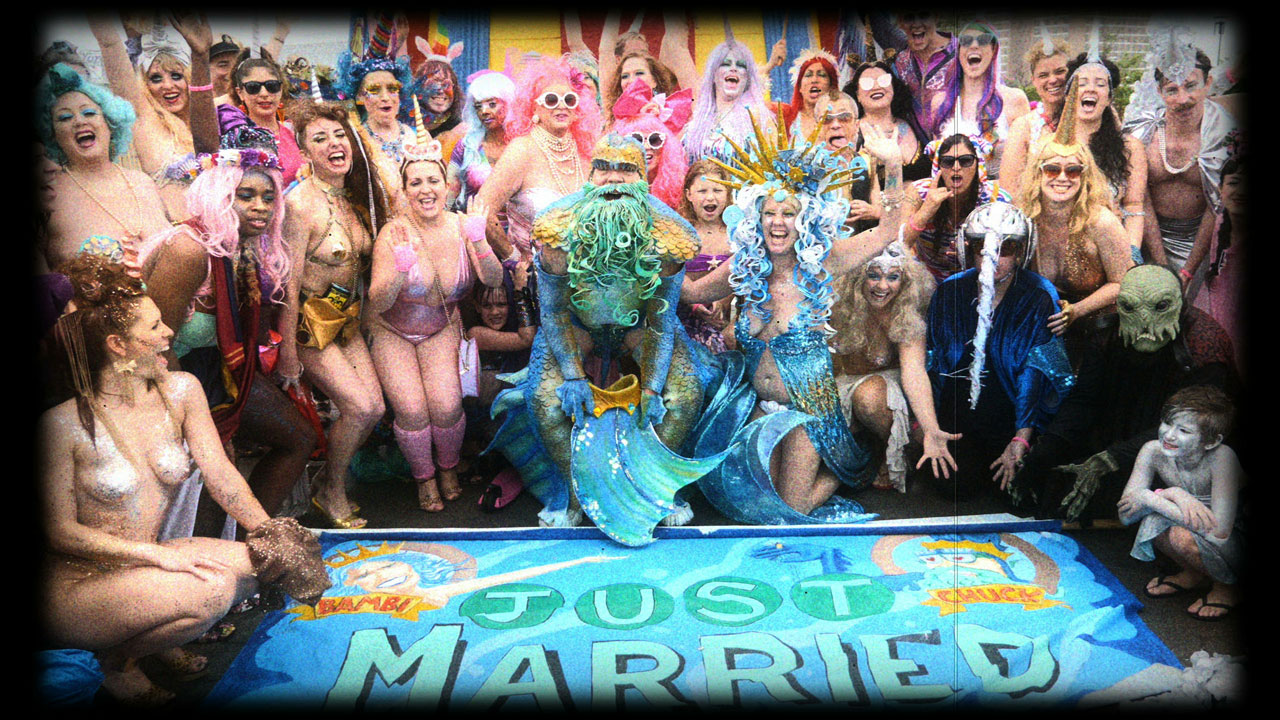 Bambi & Chuck - MERMAID parade Wedding March